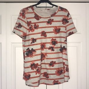 Floral/Striped T-Shirt